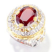 SS/PALL RING HESSONITE GARNET