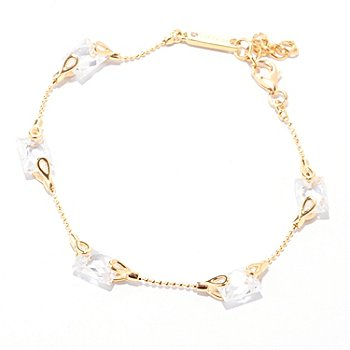 "122-076 - TYCOON for Brilliante® 7"" 6.32 DEW Rectangular Cut Station Bracelet"