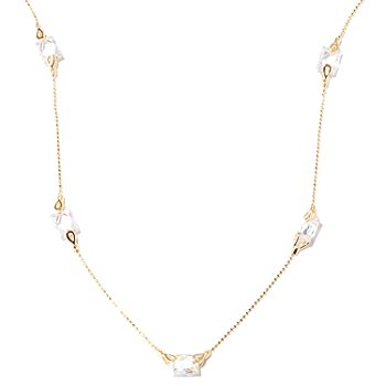 "122-079 - TYCOON for Brilliante® 18"" 6.32 DEW Rectangular Cut Station Necklace"