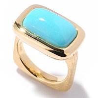 SS/18KV RING SLEEPING BEAUTY TURQUOISE SQUARE SHANK