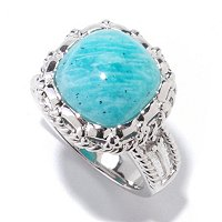 SS AMAZONANITE RING