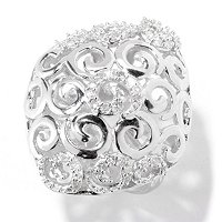 SS DIAMOND SWIRL RING