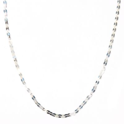 "122-191 - SempreSilver&™ 60"" Polished Hammered Disk Necklace"