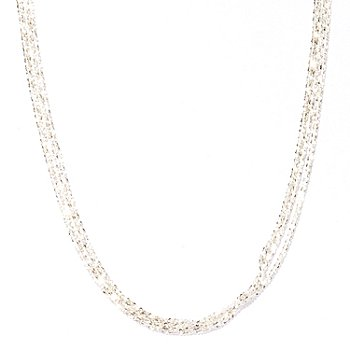 122-192 - SempreSilver™ Three-Strand Margherita Necklace