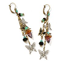 GODLTONE BUTTERFLIES ALOFT EARRINGS