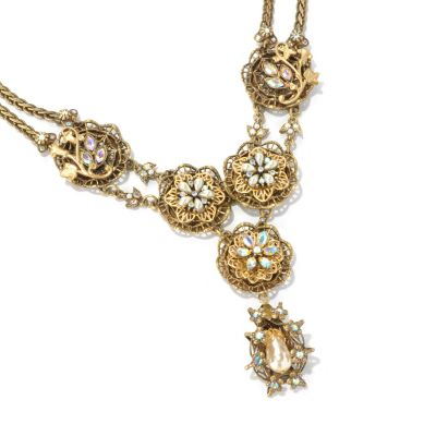 "122-221 - Sweet Romance™ 22"" Gold-tone ""Elizabeth Gilded Garden"" Necklace"
