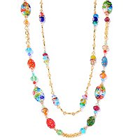 DUETTE SET OF TWO CANDY GLASS NECKLACES