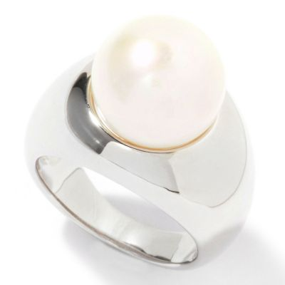 122-248 - Sterling Silver 12-13mm Freshwater Cultured Pearl Ring