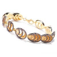 "SS/YV 7.25"" MOCHA DIAMOND OVAL LAYER BRACELET"