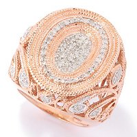 SS/V DIAMOND PAISLY RING CHOICE