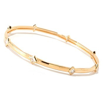 122-322 - Sonia Bitton for Brilliante® 1.44 DEW Bezel Set Princess Cut Station Bangle