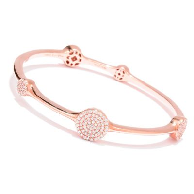 122-328 - Sonia Bitton for Brilliante® 1.82 DEW Round Cut Five Station Bangle Bracelet