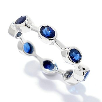 122-368 - Gem Treasures Sterling Silver 1.76ctw Sapphire Stack Ring