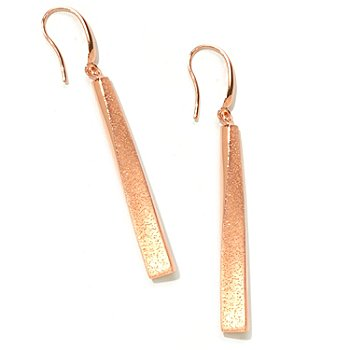 122-383 - Charles Garnier Electroform Elongated Twist ''Justine'' Earrings