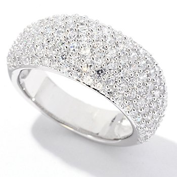 122-400 - Brilliante® Platinum Embraced™ 3.93 DEW Pave Set Dome Ring