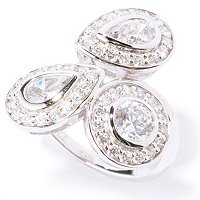 BLTA SS/PLAT ROUND AND PEARSHAPE HALO RING