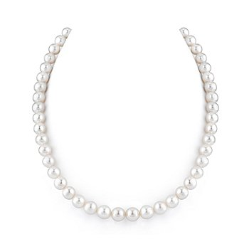 122-882 - 16''-18'' AAA Quality 8-9mm White Cultured Freshwater Pearl Strand Necklace