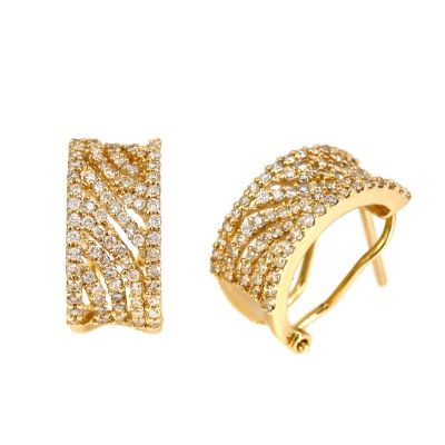 124-047 - Porsamo Bleu 14K Yelllow Gold 0.8ct Diamond Earrings