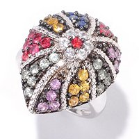 SS TEARDROP RING MULTI COLOR SAPP