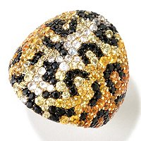 BALISSIMA BY EFFY SS BLK AND YELLOW SAPP ANIMAL PRINT RING