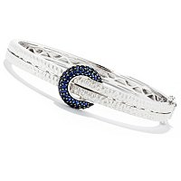 BALISSIMA BY EFFY SS CIRCLE PAVE BLUE SAPP BANGLE