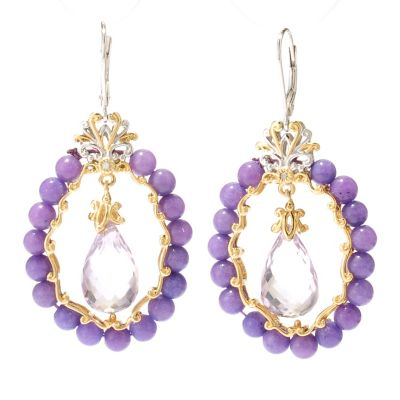 124-870 - Gems en Vogue II 24.38ctw Multi Gemstone Briolette Drop Earrings