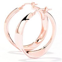 SS/18KGP EAR POLISHED TWIST HOOP