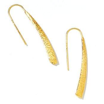 124-967 - Italian Designs with Stefano 14K ''Oro Vita'' Textured Drop Earrings