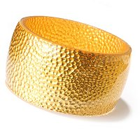 IDS ORO PURO RESIN & 24K GOLD FOIL HAMMERED DETAIL BANGLE