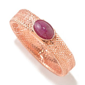 124-973 - Italian Designs with Stefano 14K Gemstone Stretch Mesh Ring