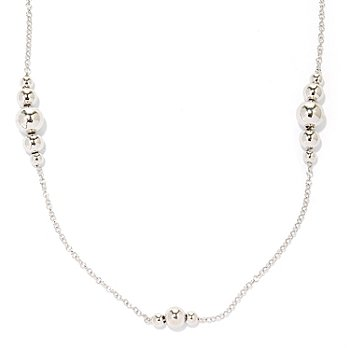 125-037 - Palatino™ Platinum Embraced™ 28'' Graduated Bead Station Necklace