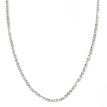 125-040 - Palatino™ Platinum Embraced™ 20'' Diamond cut Margherita Necklace