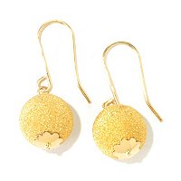 VIALE 18K GOLD 10MM BALL STUD EARRINGS