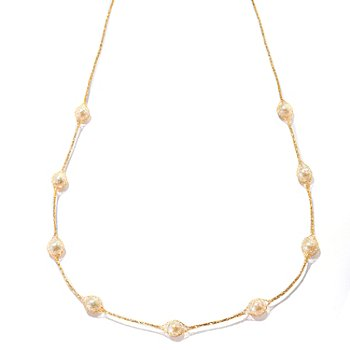 125-085 - Italian Designs with Stefano 14K Gold 24'' Cultured Freshwater Pearl Necklace