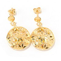14K RICAMI DANGLE EARRINGS