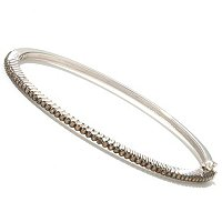 DIAMOND TREASURES SS .50 CR FANCY COLOR DIAMOND LINE BANGLE.