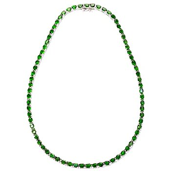 125-140 - NYC II Chrome Diopside Tennis Necklace