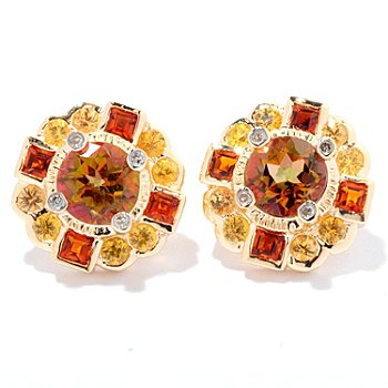 125-145 - NYC II Exotic Topaz & Multi Gemstone Stud Earrings
