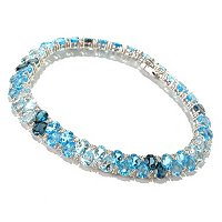 SS PEAR SHAPE BLUE TOPAZ BRAC
