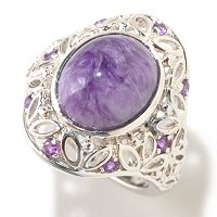 SS CHAROITE AND AMY RING