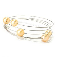 STSL 8-9mm OVAL GOLDEN SOUTH SEA FIVE PEARL WRAP BRACELET