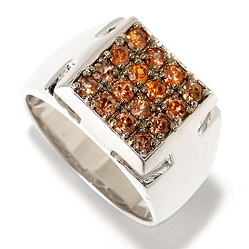 125-201 - Men's en Vogue II Exotic Gemstone Square Top Ring