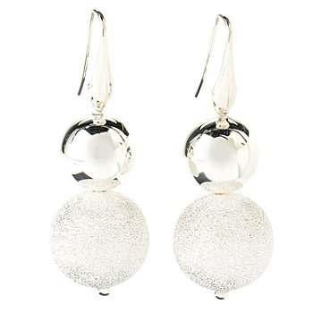 125-236 - SempreSilver™ Pave & Polished Ball Earrings