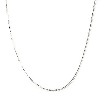 125-252 - SempreSilver™ 36'' Adjustable Box Chain Necklace