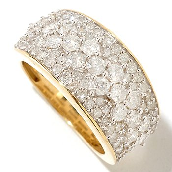 125-271 - Diamond Treasures 14K Gold 2.00ctw Multi Size Diamond Band Ring