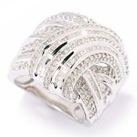 SS WRAP DIAMOND RING