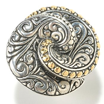 125-402 - Artisan Silver by Samuel B. Polished Sterling Silver Swirl Ring