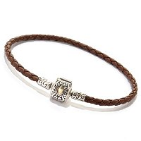 SS LEATHER BRACELET