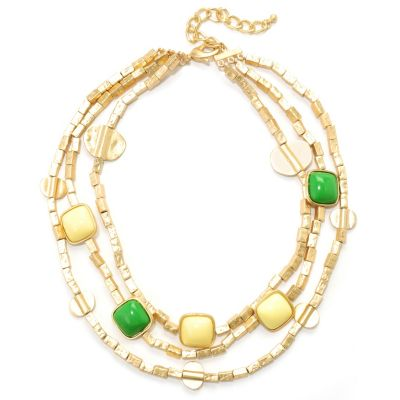"125-441 - Meghan Browne Style 15"" Gold-tone Multi Strand ""Margo"" Necklace"