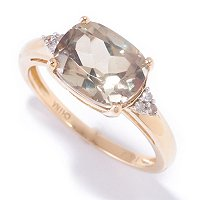 14K YG CUSHION CUT RING ZULTANITE 10X8